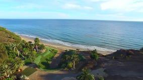 Flyg- videopd Malibu Kalifornien arkivfilmer