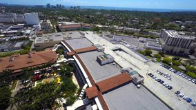 Flyg- videopd Merrick Park Miami lager videofilmer