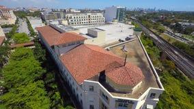 Flyg- videopn Merrick Park Miami gem 2 arkivfilmer