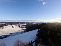Flyg- vinterlandskap Royaltyfri Bild
