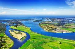 flyg- waterways arkivfoto