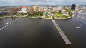 Flyg- West Palm Beach FL arkivfilmer