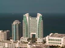 Flyg- Westin diplomat Resort Hollywood Beach Florida fotografering för bildbyråer