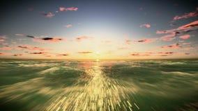 Flyga över havlängd i fot räknatvideoen