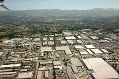 Flyga över San Jose Kalifornien royaltyfria foton