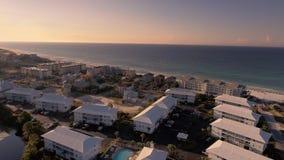 Flyga över stränderna av den södra stranden, Miami, Florida Royaltyfri Fotografi