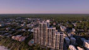Flyga över stränderna av den södra stranden, Miami, Florida Arkivbilder
