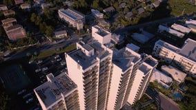 Flyga över stränderna av den södra stranden, Miami, Florida lager videofilmer