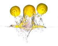 flyga citronen Royaltyfri Fotografi