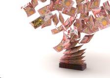 Flyga den nyazeeländska dollaren Fotografering för Bildbyråer
