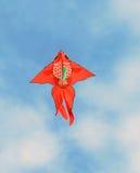 Flyga den röda drakefisken Royaltyfri Bild