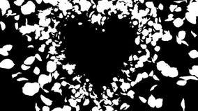 Flyga den romantisk vibrerande f?rgrik isolerade ?glan f?r Rose Flower Petals hj?rta alfabetisk royaltyfri illustrationer