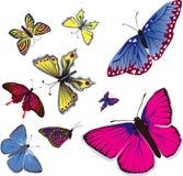 flyga för butterflys vektor illustrationer