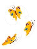 flyga för fjärilar royaltyfri illustrationer