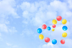 flyga för ballonger Arkivfoton