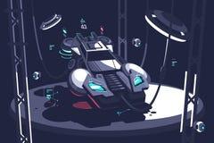 Flyga framtid för tävlings- bil stock illustrationer