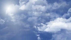 Flyga i himlen med solen royaltyfri illustrationer