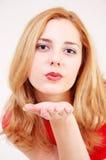 flyga kyss Fotografering för Bildbyråer