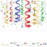 Flyga mångfärgade konfettier - partibakgrund Royaltyfri Fotografi