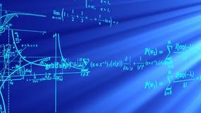 Flyga matematiska formler och grafer stock illustrationer