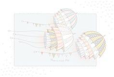 Flyga ovanliga paraplyer - manet Arkivfoto