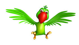 flyga papegojatecknad filmteckenet Arkivfoto