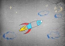 Flyga raket Fotografering för Bildbyråer