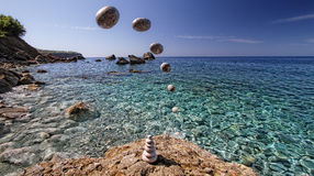 Flyga stenen Royaltyfri Foto
