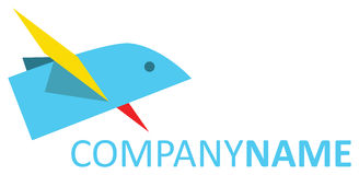 Flyga stylized pappers- fågel Royaltyfri Foto