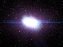 Flyga till en stor galax vektor illustrationer