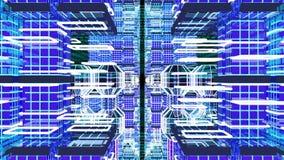 Flyga till och med cyberspace stock illustrationer