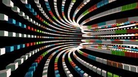 Flyga till och med en färgrik tunnel