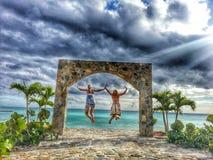Flyga till paradiset Royaltyfri Fotografi