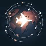 Flygaffärsbakgrund stock illustrationer