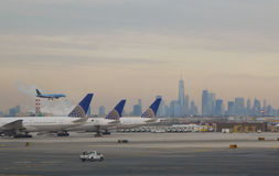 Flygankomst - New York City fotografering för bildbyråer
