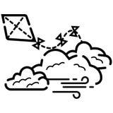 Flygaormsymbolen royaltyfri illustrationer