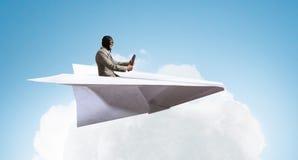 Flygare i pappersnivå Blandat massmedia Blandat massmedia Fotografering för Bildbyråer