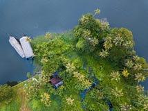 Flygbild av Alappuzha Indien Arkivfoto