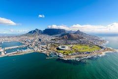 Flygbild av Cape Town 2 arkivfoto