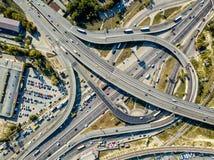 Flygbild av cityscape Arkivfoto