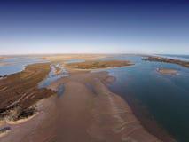 Flygbild av Coorongen Royaltyfria Bilder