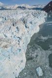 Flygbild av den Alaska Hubbard glaciären Royaltyfri Bild