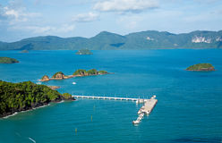 Flygbild av den Langkawi ön, Malaysia Royaltyfri Bild