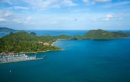 Flygbild av den Langkawi ön, Malaysia Fotografering för Bildbyråer