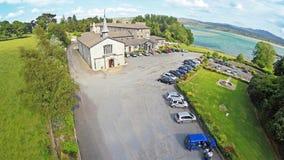 Flygbild av en Abbey Co Donegal Fotografering för Bildbyråer
