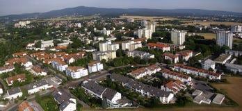 Flygbild av en liten tysk stad Royaltyfri Bild