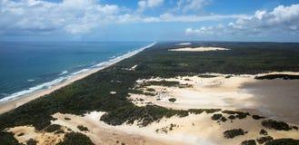 Flygbild av Fraser Island arkivbilder