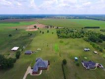 Flygbild av Georgia Farms Arkivbild