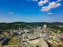 Flygbild av Gummersbach Royaltyfri Foto