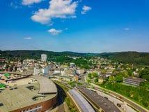 Flygbild av Gummersbach Royaltyfri Bild
